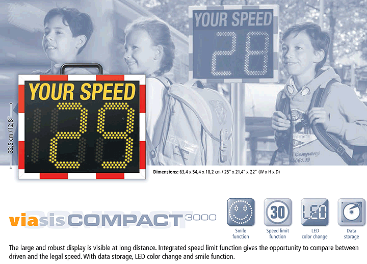 Viasis Compact Radar Speed Signs